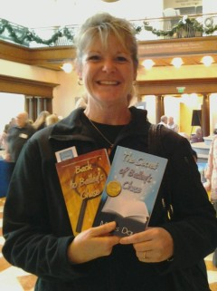 "It's always an honor to be invited to sign with the Indiana authors at the Holiday Author Fair in Indianapolis at the posh History Center downtown. In addition to meeeting many shoppers looking for that special book for someone's stocking, it also offers the opportunity to reconnect with other writers. James Alexander Thom, one of my favorite authors, was as gracious as ever. Phil Dunlap and Jeanne Dams, also mystery writers, were both ready for a hug, since we've attended many of the same conferences over the years. But when Ms Maple said, ""Last year I bought The Secret of Bailey's Chase and read it to my sixth grade and THEY LOVED IT! Now I want the sequel"" That was music to my ears. Merry Christmas, everyone!"
